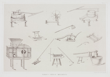 'Various Chinese Implements', c 1853-1854.