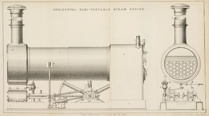 Horizontal semi-portable steam engine, 1881.