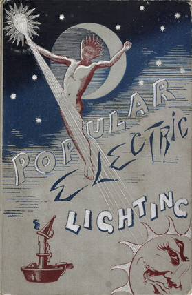 Cover of a book on electric lighting, 1891.