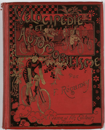 Cover of Regamey's book on cycling, 1898.