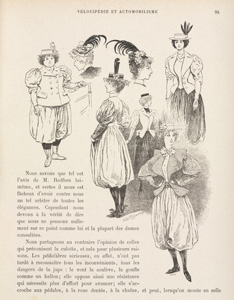 Cycling wear for women, 1898.