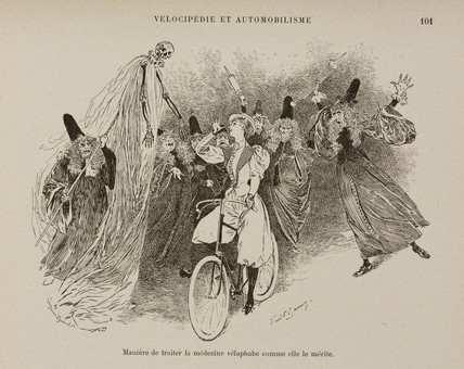 Opponents of cycling, 1898.