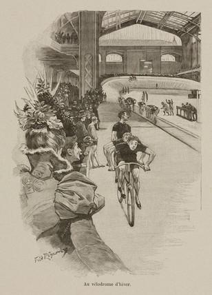 'The velodrome in winter', 1898.