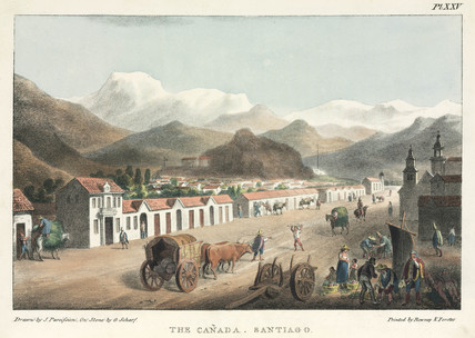 'The Canada; Santiago', Chile, 1820-1821.