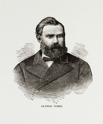 Ludwig Nobel, Swedish industrialist, c 1884.