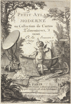 Trade card for Lattre, cartographer, France, 1792.