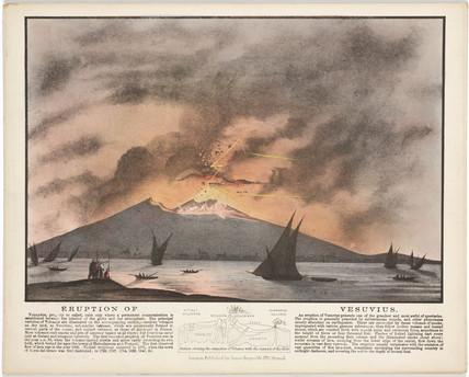'Eruption of Vesuvius', near Naples, Italy, c 1850s.