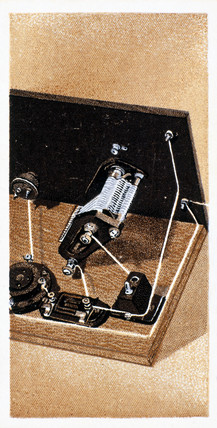 'How to build a two valve set', No 13, Godfrey Philips cigarette card, 1925.