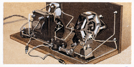 'How to build a two valve set', No 22, Godfrey Philips cigarette card, 1925.