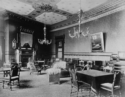 Drawing room on first floor, Midland Grand Hotel, St Pancras Station, c 1876.