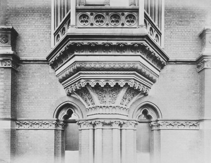 Exterior detail, Midland Grand Hotel, St Pancras station, London, c 1876.