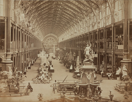 Interior view of the International Exhibition, London, 1862.