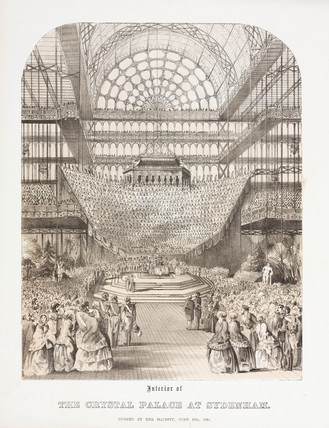 Interior of the Crystal Palace at Sydenham, 1854.