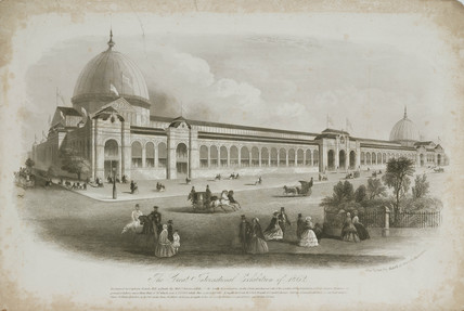 International Exhibition building, London, 1862.
