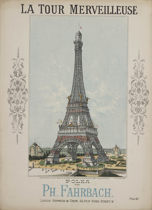 The Eiffel Tower, sheet music, c 1888.
