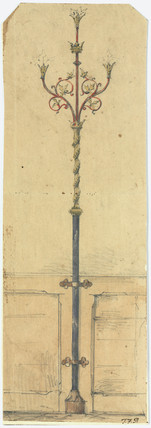 Sketch for gas standards, c 1840s.