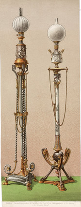 Gas lamps, 1862-1863.