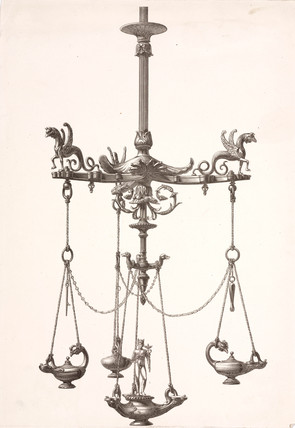 Chandelier, probably French, c 1860.