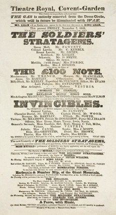 Playbill for Theatre Royal, London, 1828.