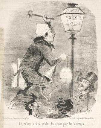 Political cartoon, Paris, France, 19th century.