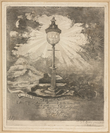 'The Triumph of Gas Lights', 1810.