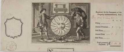 Sun Fire Insurance Certificate, 1835.