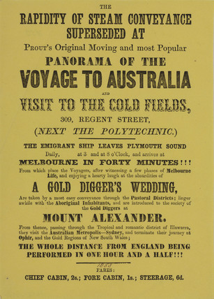 Advertisement for Prout's Original Panorama, 19th century.