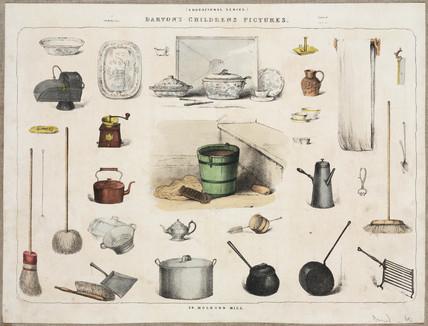 Household utensils, c 1870-1900.