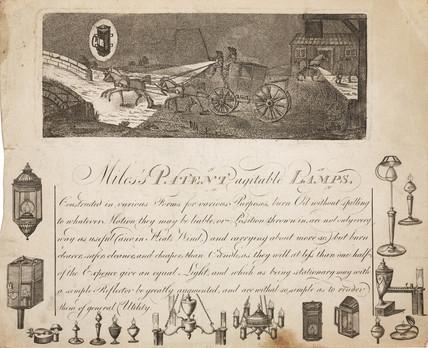 Miles's patent agitable lamps, Birmingham, 1787- c 1791.