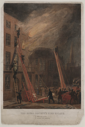 'The Royal Society's Fire Escape', 19th century.
