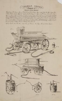 The 'Niagara' fire engine, 1843.