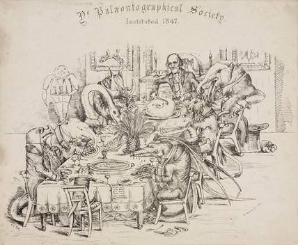 Sir Richard Owen, English zoologist and palaentologist, late 19th century.