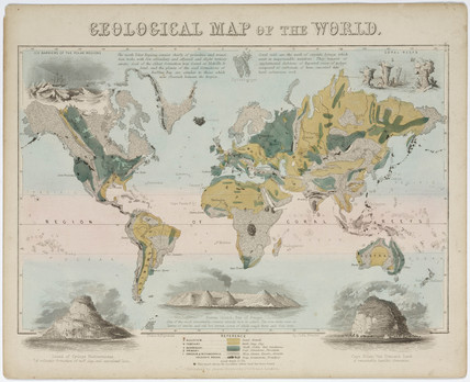 'Geological map of the world', c 1850.