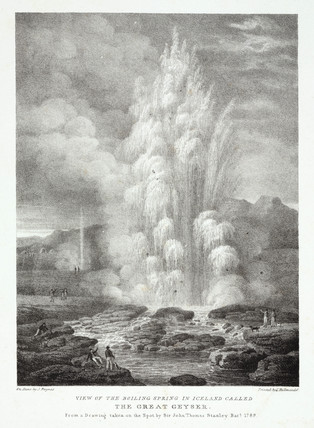 'View of the boiling spring in Iceland called the Great Geyser', 1789.
