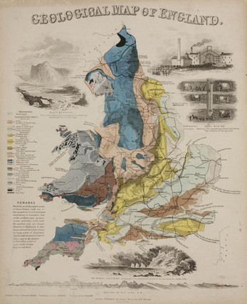Geological Map of England', 1849.
