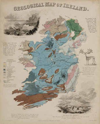 'Geological Map of Ireland', c 1850's.
