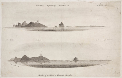 'Sketches of the Island of Fernando Noronha', South Atlantic, 1828-1831.