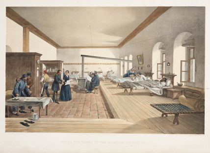 Hospital ward, Scutari, Crimea, 1856.