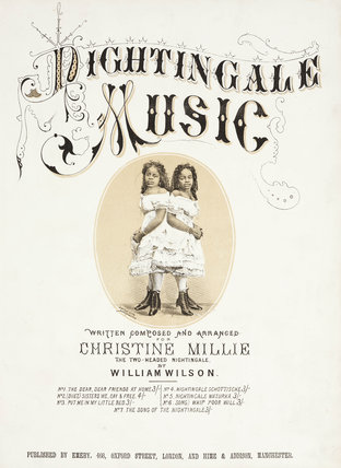 'Nightingale Music'; singers Millie and Christine McKay, c 1870s.