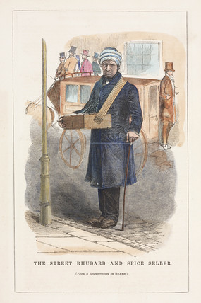 'Street rhubarb and spice seller', 19th century.