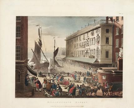 'Billingsgate Market', Billingsgate Wharf, London, 1 March 1808.