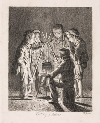 'Boiling potatoes', 1833.