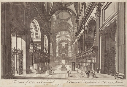 The Choir of St Paul's Cathedral, London, 18th century.