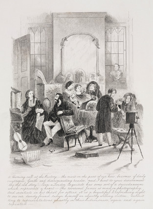 'A morning call at the Rectory', c 1865.