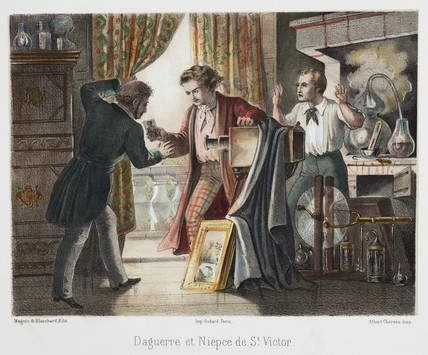 'Daguerre and Niepce de Saint Victor', c 1851.