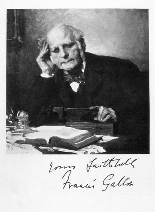 Sir Francis Galton, c 1880s.