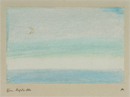 Sea and sky, 20.00, 24 August 1884.