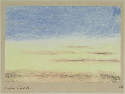 Sky, 18.40, 3 September 1885.