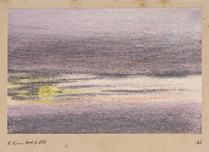 Sunset, 17.15, 9 October 1883.