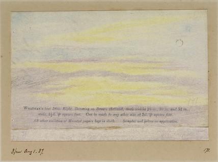 Sky, 20.00, 1 August 1887.